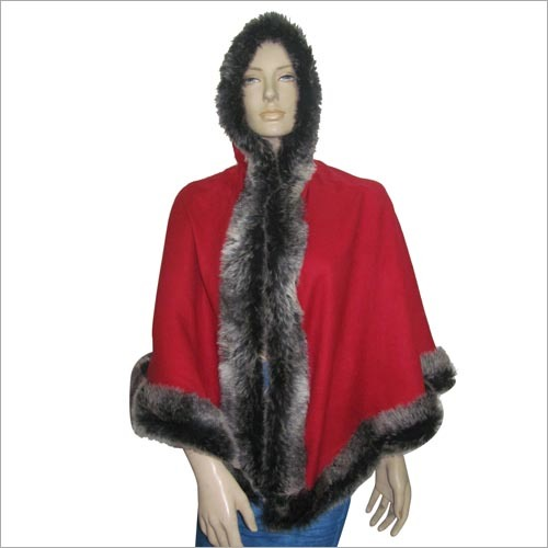 Designer Feather Poncho