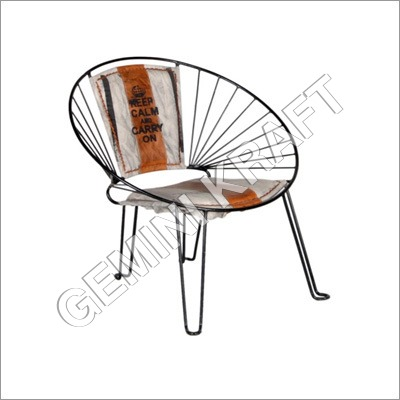 Industrial Iron Outdoor Metal Chair