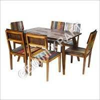 Industrial Wooden Dining Set Dining