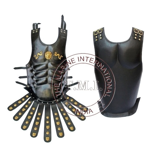 Black Leather Dragon Roman Muscle Armour Cuirass