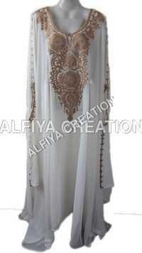 Eid collection white jalabiya Farasha Kaftan