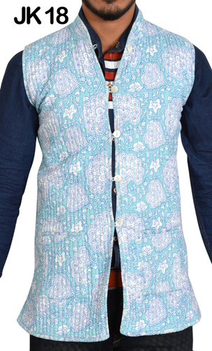 Cotton Hand Block Print Jacket