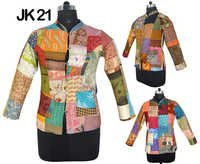 SIlk Patchwork Jacket