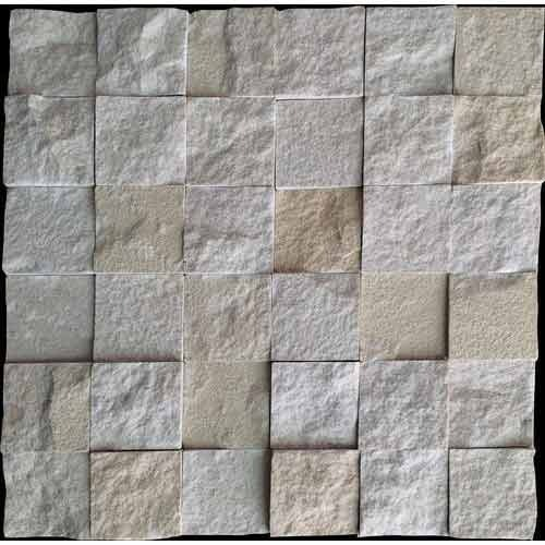 Mint Rockface Mosaic Wall Panel