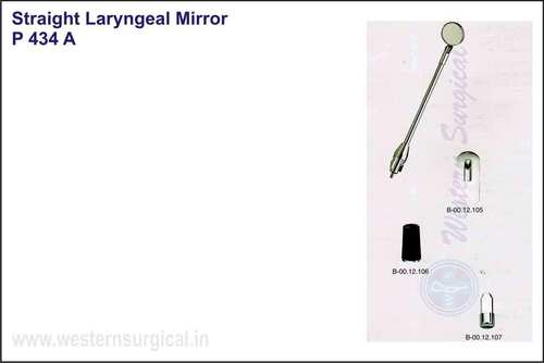 Straight Laryngeal Mirror