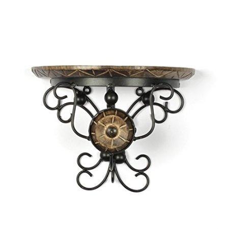 Desi Karigar wood & wrought iron hand carved big wall bracket