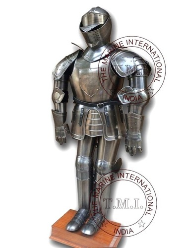 Collectible Medieval Knight Full Suit Of Armour W/Stand