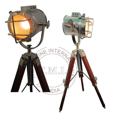 Spotlight With Wooden Tripod Stand