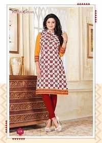 Printed cotton kurti pushti royalty kurties