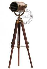 Copper Antique Authentic Model Spotlight With Tripod Stand