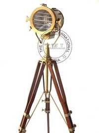 Designer Searchlight With Wooden Tripod Stand