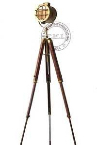 Authentic Model Brown Antique Spotlight Fully Adjustable Tripod Stand
