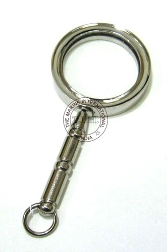 Chrome Brass Handle Magnifying Glass