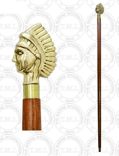 Brass Queen Handle Walking Stick