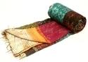 Vintage Patola Silk Kantha Quilts