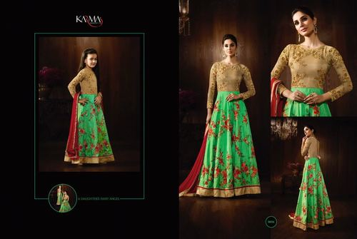 Buy Raw Silk Anarkali Suit Online