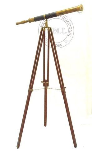 Antique Vintage Floor Telescope Harbar Master Telescope W/Tripod Stand