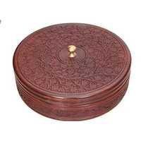 Desi Karigar Wooden Kitchen Ware Chapati Box Size (LxBxH-11x11x3) Inch