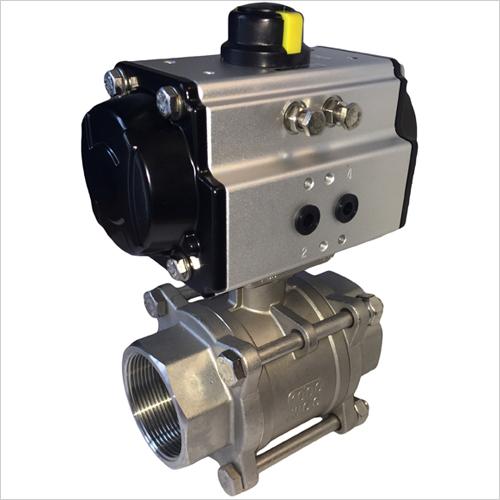 3piece ball valve pneumatic actuator
