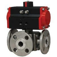 3 Way 4 Way Ball Valves Pneumatic actuator