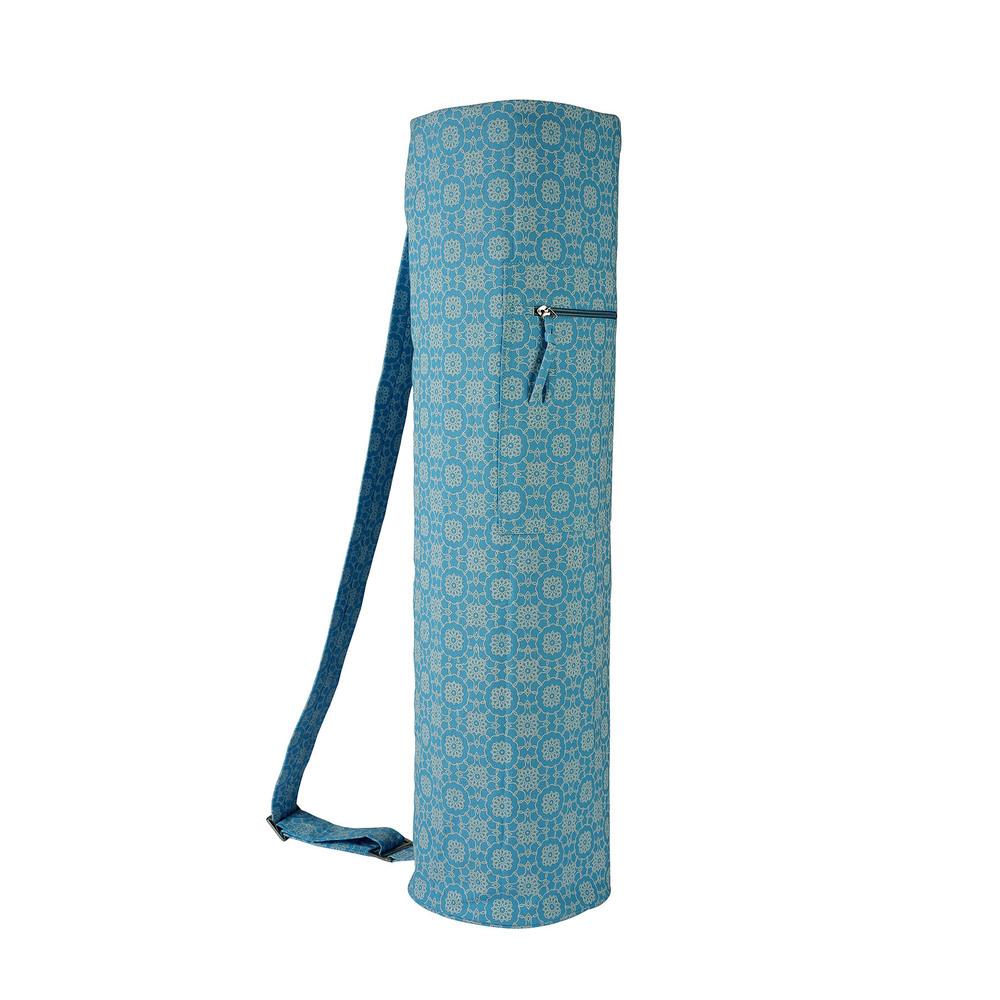 YMB082 Printed Sky Blue Yoga Mat Bag
