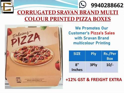 Pizza SRAVAN BRAND MULTI COLOUR PRINTED  Boxes
