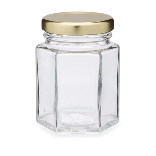 300 Gm Hexagonal Honey Jar