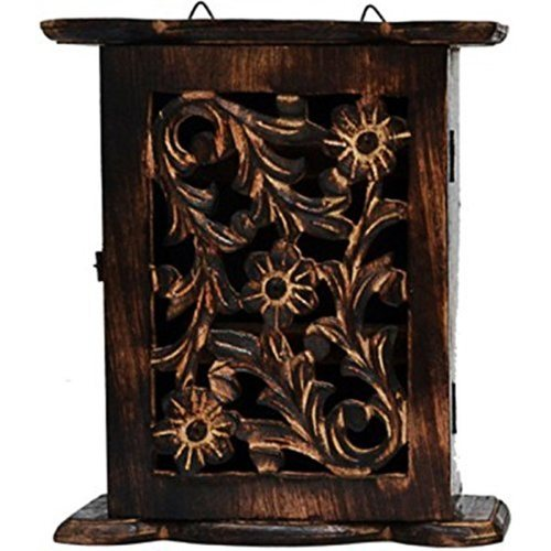 Desi Karigar Wooden Key Holder Size (LxBxH-5x2X9) Inch