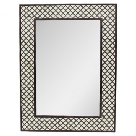 White Bone Mugal Jali Mirror Frame (36X48XINCHES)