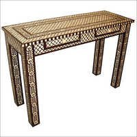 Bone Inlaid 2 Drawers Consol Table