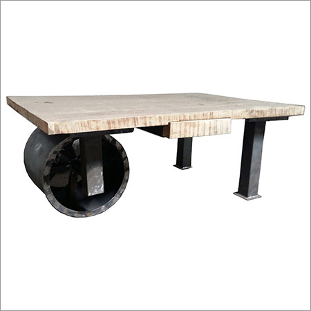 Industrial Wheel Coffee Table