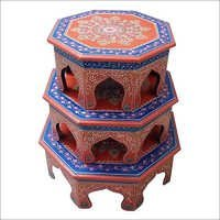Painted Round Stool