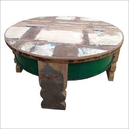 Coffee Table With Old Door As Top