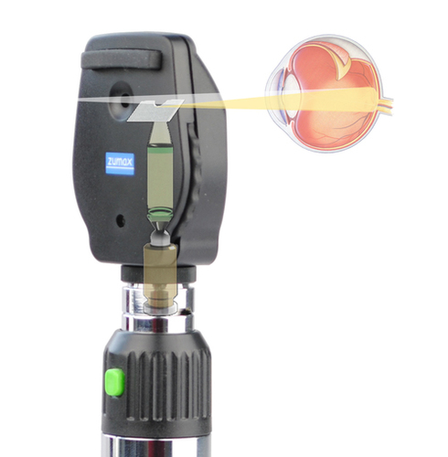 3.5V Led Coaxial Ophthalmoscope