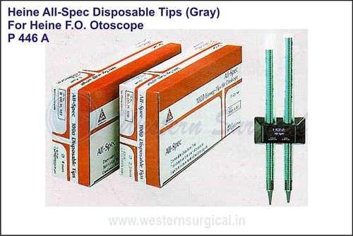 HEINE ALL-SPEC disposable tips (grey) for HEINE F.O.otoscope