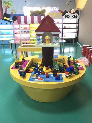 Fantasy building block kiddy amusement desk 4 players