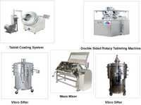 Tableting Machine, Vibro Sifter, Mass Mixer