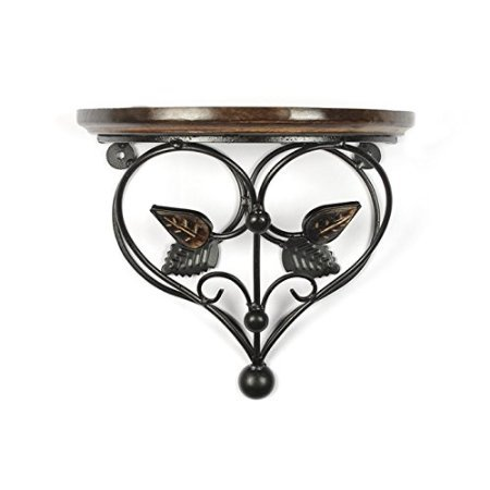 Desi Karigar Home Decor Premium Quality Leaf Design Shelf Rack Wall Bracket Wall Rack