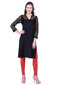 RAYON DRESS WITH NET