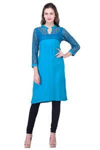 Rayon Dress Sky Blue