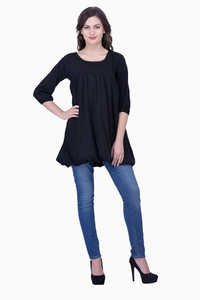Viscose Plain Top Black