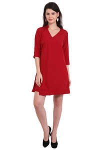 Rayon Embroidered Top Red