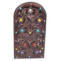 Desi Karigar Wooden Key Holder With Handicrafts Design Size (LxBxH-7.5X1X14) Inch