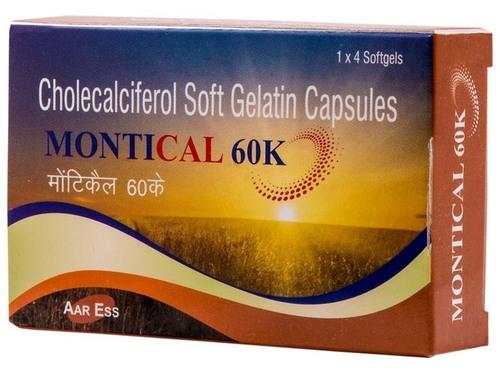 cholecalciferol 60,000 IU softgel caps.