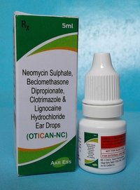 OTICAN-NC (Neomycin 0.3% + Beclomethasone 0.025% + clotrimazole 1%)
