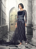 Blue Georgette Wedding Wear Suit