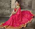 Pink Georgette Wedding Wear Saree