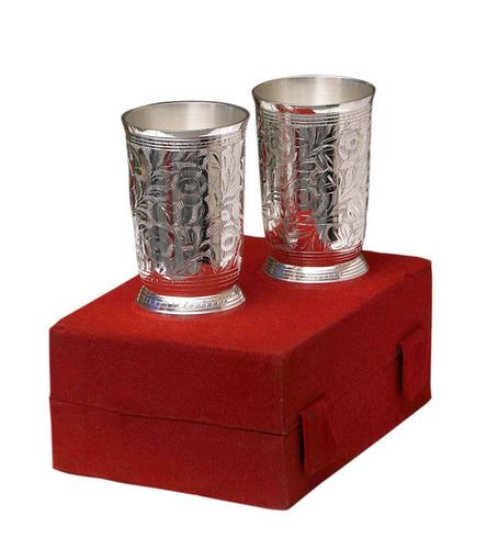 Sliver Plated Glass Set
