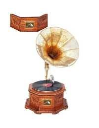 Desi Karigar Handcrafted Collectible Vintage Gramophone octagonal