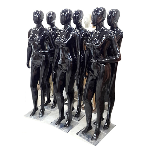 Glossy Black Female Mannequins